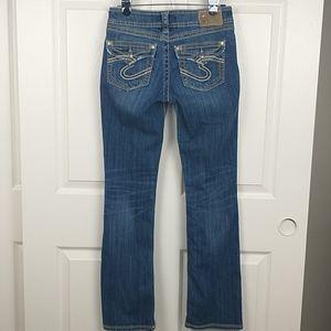 "Silver Suki 17"" Surplus Boot Stretch Jeans size 27"